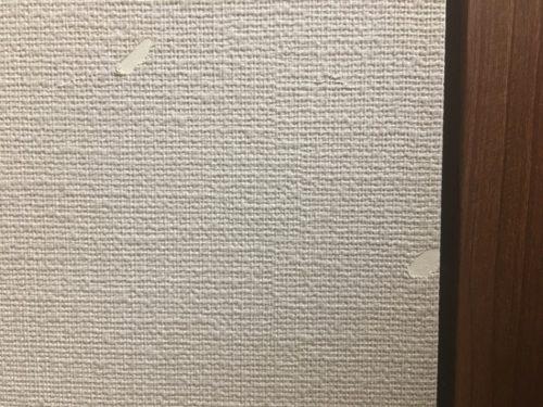 壁紙のキズ